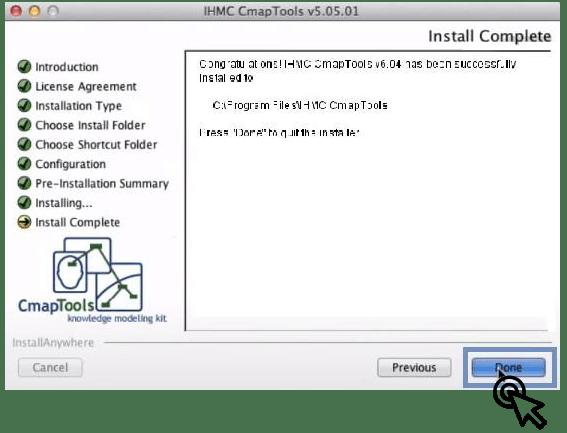 Finalizar gestor de descarga CmapTools Online