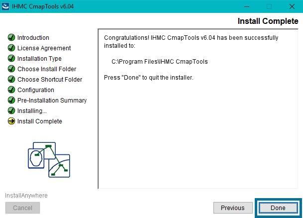 Terminar descarga Cmaptools windows