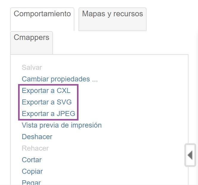 Guardar mapa conceptual en CmapTools