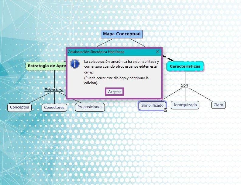 Ventana para iniciar un mapa conceptual en grupo - La nube de Cmap