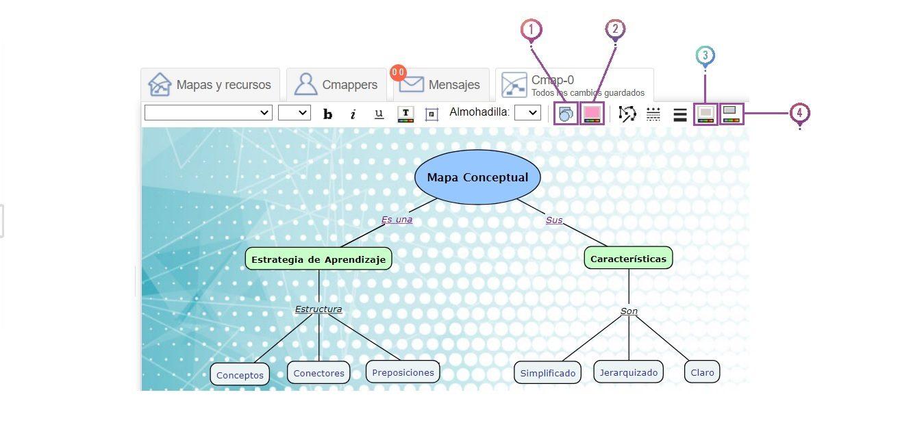 Editar objetos en CmapTools Online