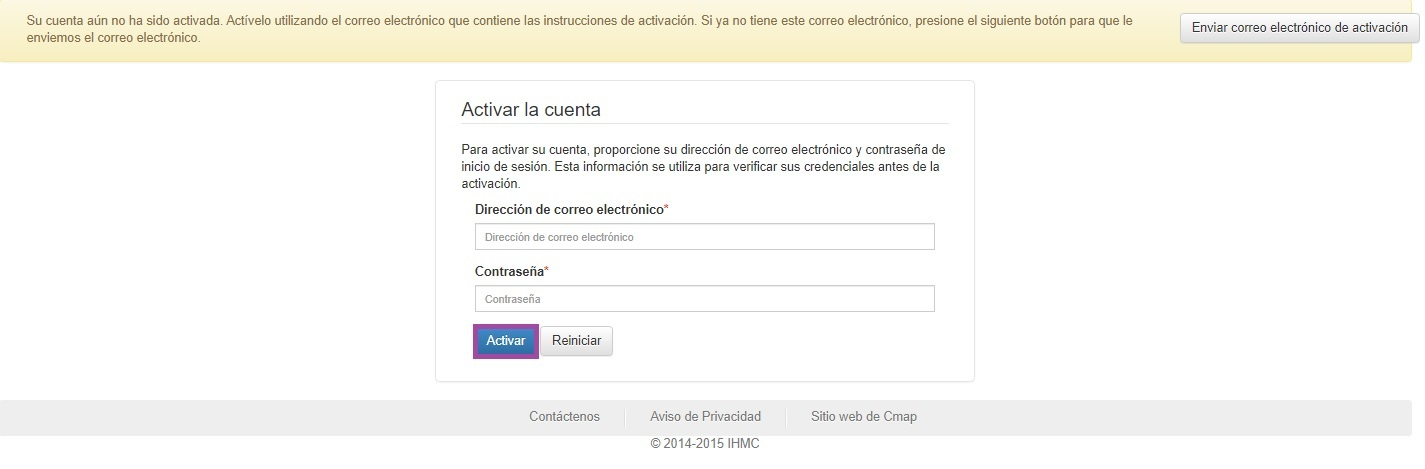 Activar CmapTools Online