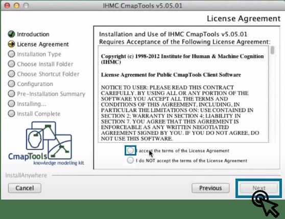 Términos y Condiciones para Descargar CmapTools para Mac