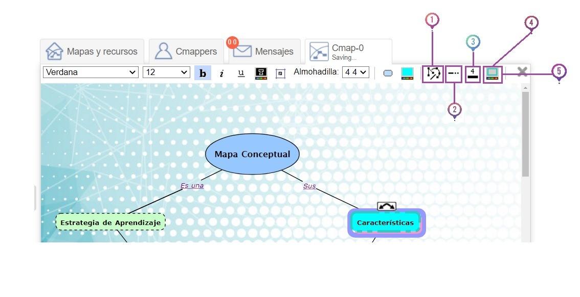 Editar lineas en CmapTools Online
