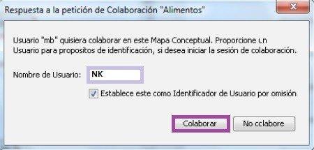 Aceptar trabajo colaborativo en CmapTools - La Nube de Cmaps