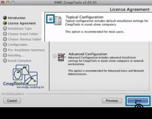 Configuración de descarga CmapTools para Mac