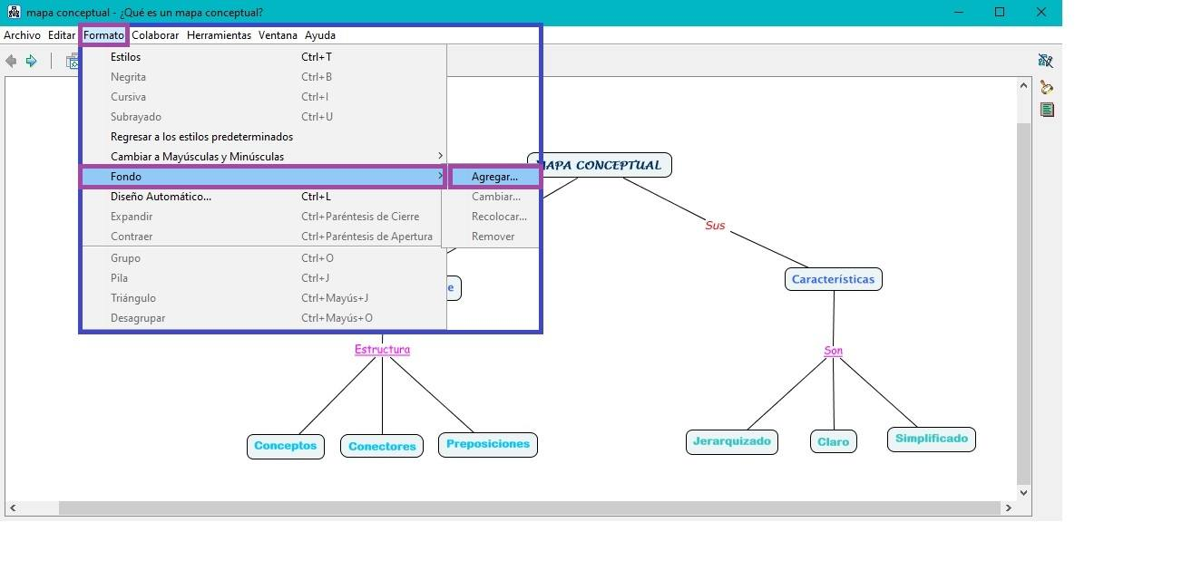Agregar Archivo seleccionado en CmapTools - añadir fondo en CmapTools