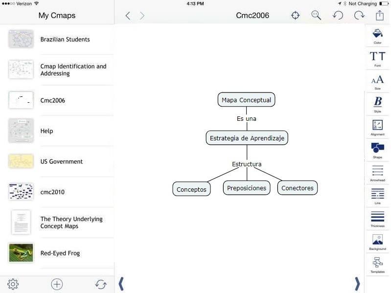diseñar mapa conceptual en ipad