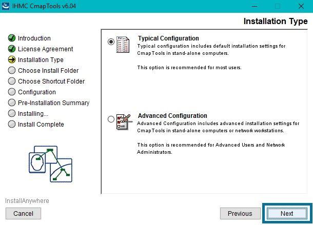 Configuración de Descarga Cmaptools Windows