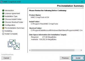 Información de Instalación Cmaptools Windows