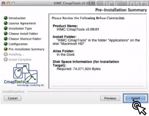 Datos de descarga CmapTools para Mac