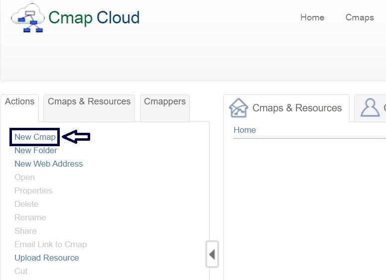 Nuevo mapa conceptual en cmaptools online