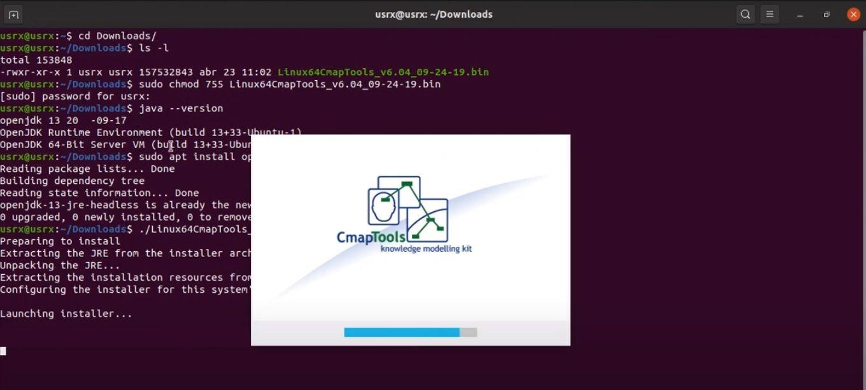 Gestor de Instalación CmapTools Linux
