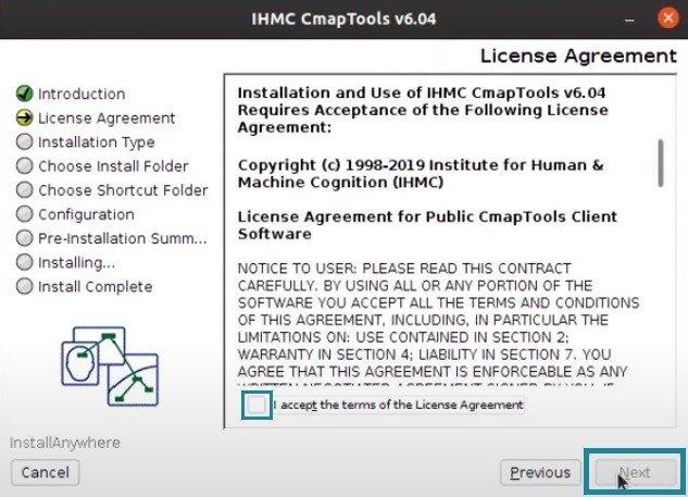 Términos y Condiciones CmapTools LInux