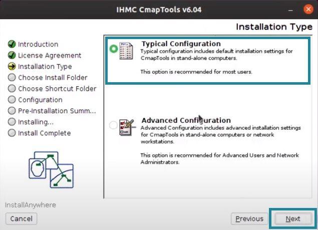 Configuración de Descarga CmapTools Linux