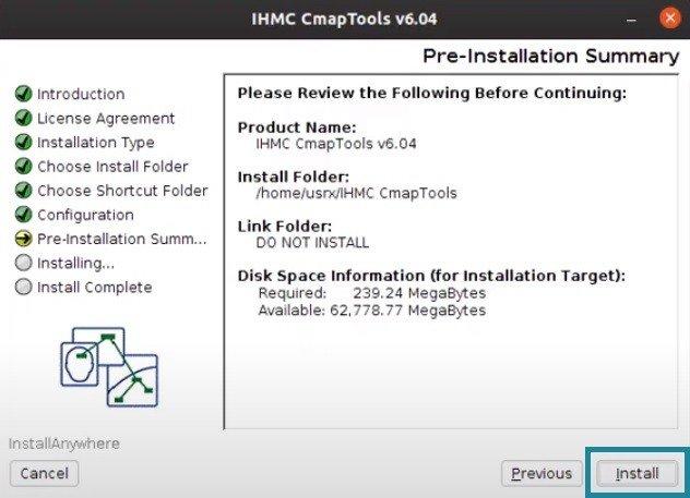 Información de Descarga CmapTools Linux